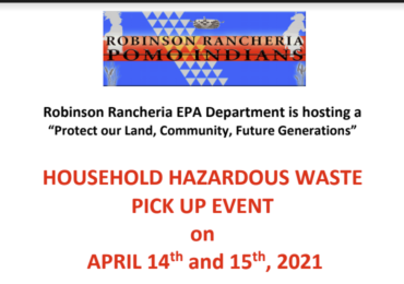Household Hazardous Waste Pick Up Event 4/14 - 4/15